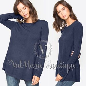 Cashmere feel navy sweater